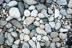 Background of blue pebbles Stock Photo