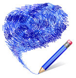 Background with blue pencil Royalty Free Stock Photos