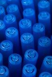 Background of blue pens. Background Stock Photo