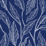 Background of blue print leaf Stock Images