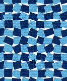 Background from blue rectangles with mosaic texture Royalty Free Stock Images