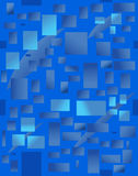 Background with blue rectangulars. Vector illustration. Dark blue abstract background with rectangulars stock illustration