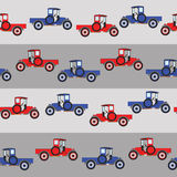 Background blue and red cartoon retro car Royalty Free Stock Photos