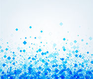 Background with blue rhombs. Vector paper illustration Royalty Free Stock Images