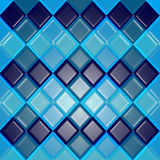 Background of blue rhombuses as tiles. Tiles vector texture Royalty Free Illustration