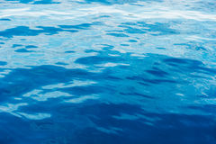 Background of blue rippled water Royalty Free Stock Image
