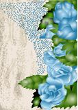 Background with blue rose Royalty Free Stock Image