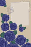 Background with Blue Roses. Photoframe Royalty Free Illustration