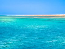 Ras Mohammed Egypt. Background of blue sea of Ras Mohammed National Park with its clear and transparent waters and its famous reef in Sharm el Sheikh, Sinai Stock Photos