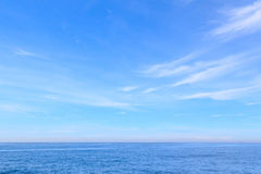 Background blue sea sky clouds Royalty Free Stock Photos