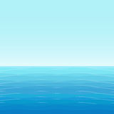 Background: blue sea with small waves Stock Image