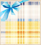 Background with blue silk bow Stock Images