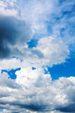 Background of blue sky with clouds Royalty Free Stock Photo