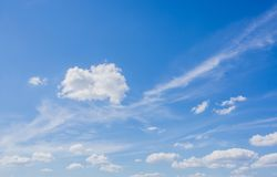 Background of blue sky with clouds. Royalty Free Stock Photo