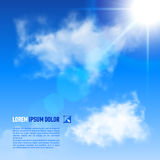 Background with blue sky and clouds. . Stock Image