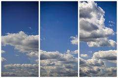 Background With Blue Sky And Clouds Stock Photography