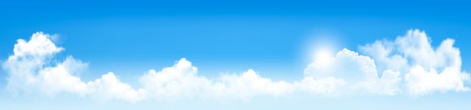 Background with blue sky and clouds. Royalty Free Stock Image