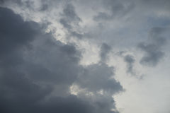 Background blue sky. Background of soft clouds in blue sky Royalty Free Stock Photos