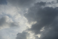 Background blue sky. Background of soft clouds in blue sky Royalty Free Stock Images