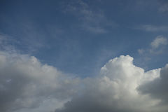 Background blue sky. Background of soft clouds in blue sky Stock Photos