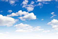 Background of blue sky with space for text Royalty Free Stock Images