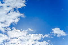 Background from the blue sky with white clouds Royalty Free Stock Photo