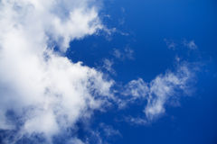 Background from the blue sky with white clouds Royalty Free Stock Photography