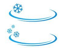 Background with blue snowflake Stock Image