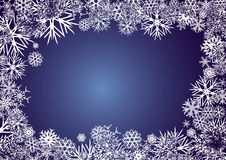 BACKGROUND_BLUE_SNOWFLAKES Stock Photos