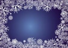 BACKGROUND_BLUE_SNOWFLAKES Stock Foto's