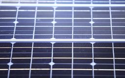 Background of blue solar panels cells Royalty Free Stock Photo