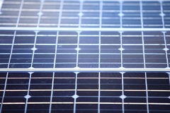 Background of blue solar panels cells Stock Photos