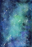 Background blue space with Milky Way Stock Photography