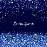 Background with blue sparkles. Vector background with falling blue sequins.  Royalty Free Stock Photo