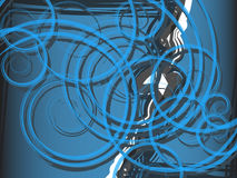 Background blue spiral abstraction Stock Photography