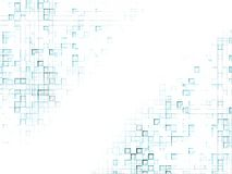 Background - blue squares 2. Mosaic of blue patterned squares on a white background Royalty Free Stock Images