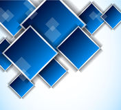 Background with blue squares. Bright background with blue squares. Abstract illustration Royalty Free Stock Photos