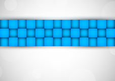 Background with blue squares Royalty Free Stock Photos