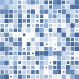 The background of the blue squares on the white. Background of blue squares of different sizes on white for text vector illustration
