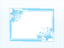Background with blue star Stock Photos