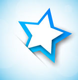 Background with blue star. Abstract colorful illustration Stock Photography