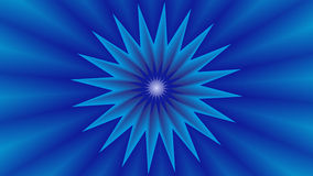 Background with blue star in the middle. Background with blue star on middle and blue embossed rays stock illustration