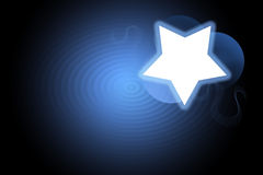Background - Blue Star Ripple. A white star set against a blue rippled background Royalty Free Stock Photography