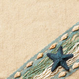 Background with a blue starfish Stock Photo