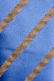 Background from blue striped tie Stock Images