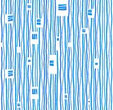 Background, blue stripes on white background, seamless. Abstract seamless background made of thin, blue wavy stripes on a white background. Vector. For the Stock Photography