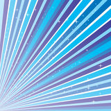 Background with blue strips and stars Stock Images