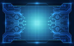 Background blue technology circuit concept. vector illustration Royalty Free Stock Photos