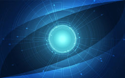 Background blue technology concept in future. vector illustration Royalty Free Stock Photos