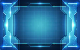 Background blue technology concept. vector illustration Royalty Free Stock Image